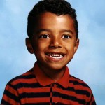 Travis in Grade 1, when he was learning how to read